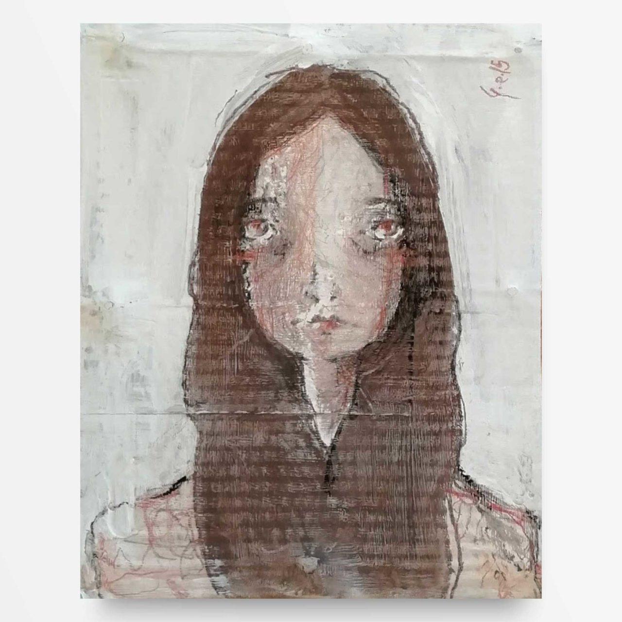 2015 Ritratto di Ragazza Quadro ad acrilico Diego Gabriele