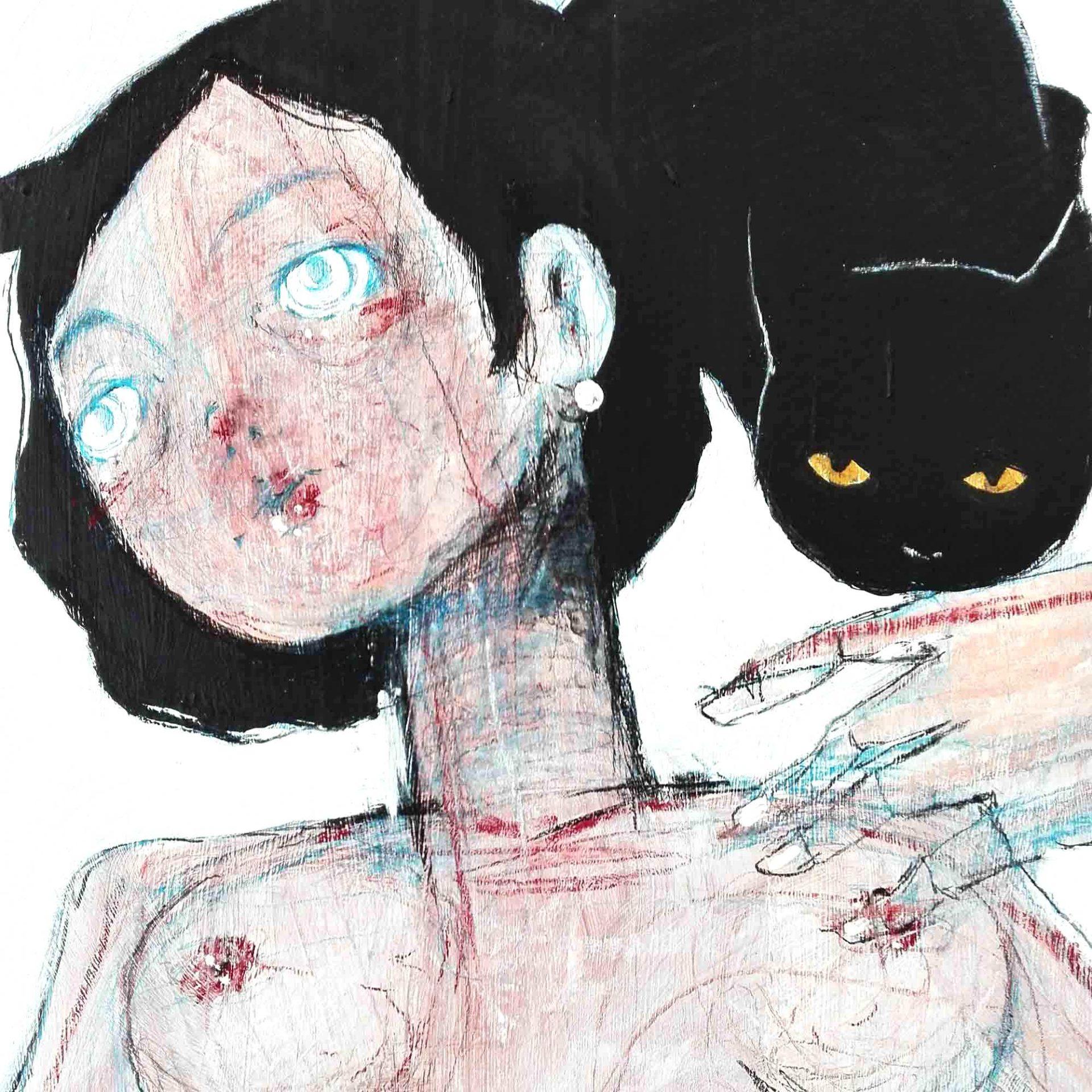 2015 Burnout Aspettando il Re dei Gatti Balthus Pittura contemporanea Diego Gabriele