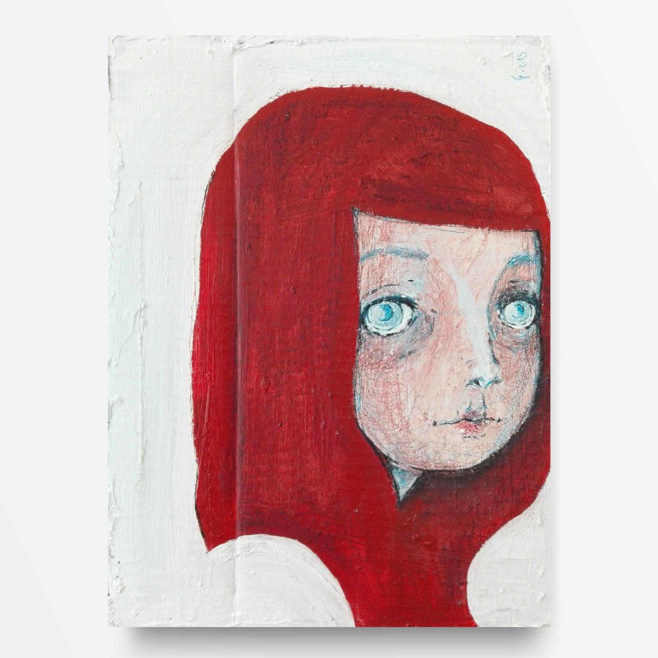 2015 Burnout Ragazza dai Capelli Rossi Pittura contemporanea Diego Gabriele
