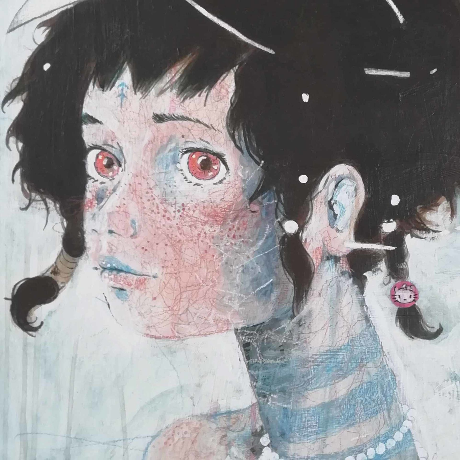 Ritratto di Neo Pagana Pittura contemporanea Diego Gabriele