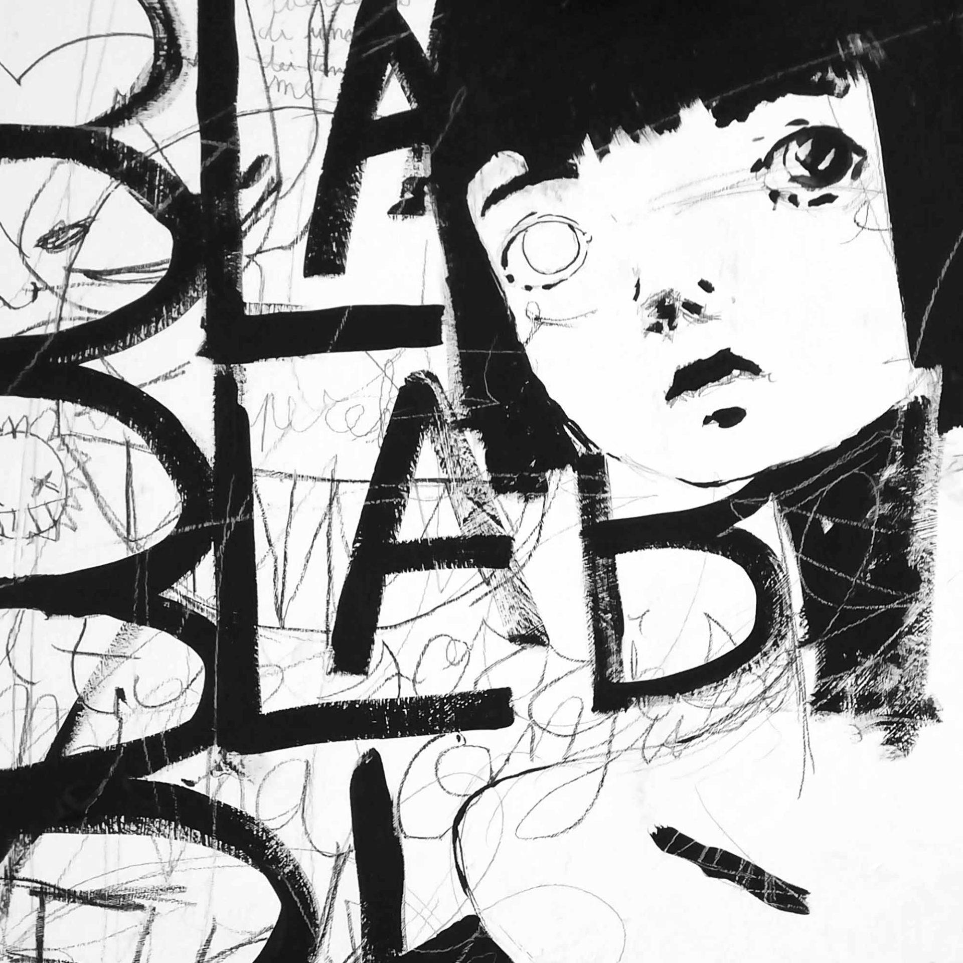 Bla bla bla Indie Rock dalla quarantena quadro ad acrilico di Diego Gabriele