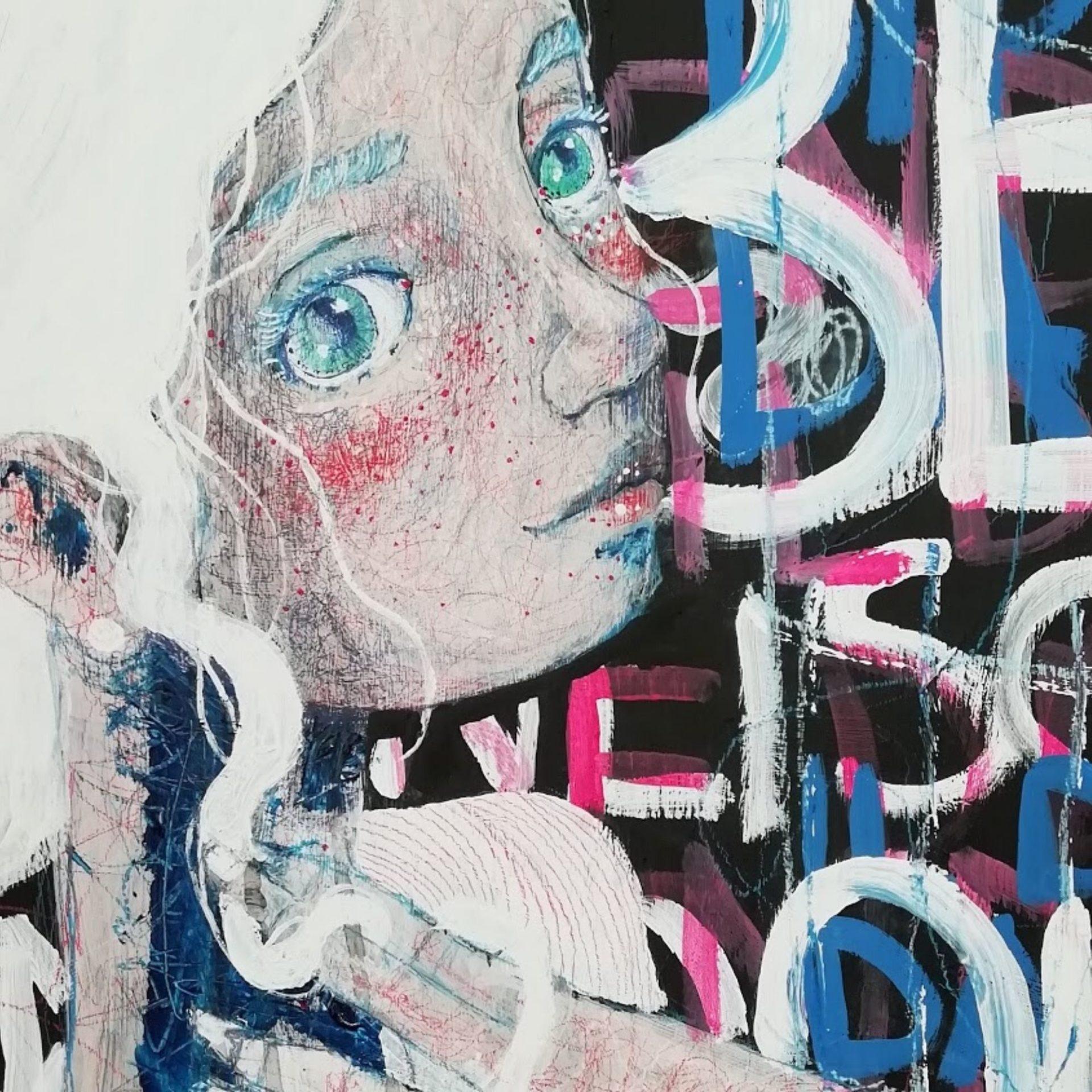 2020 Il piacere e il dolore quadro ad acrilico originale di Diego Gabriele