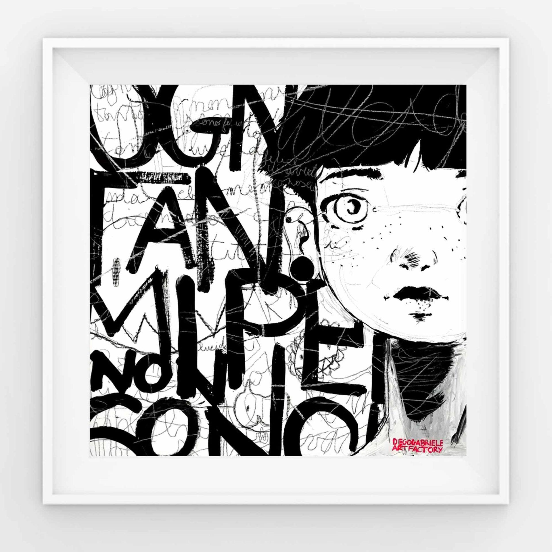 Indie Rock dalla quarantena quadro ad acrilico di Diego Gabriele