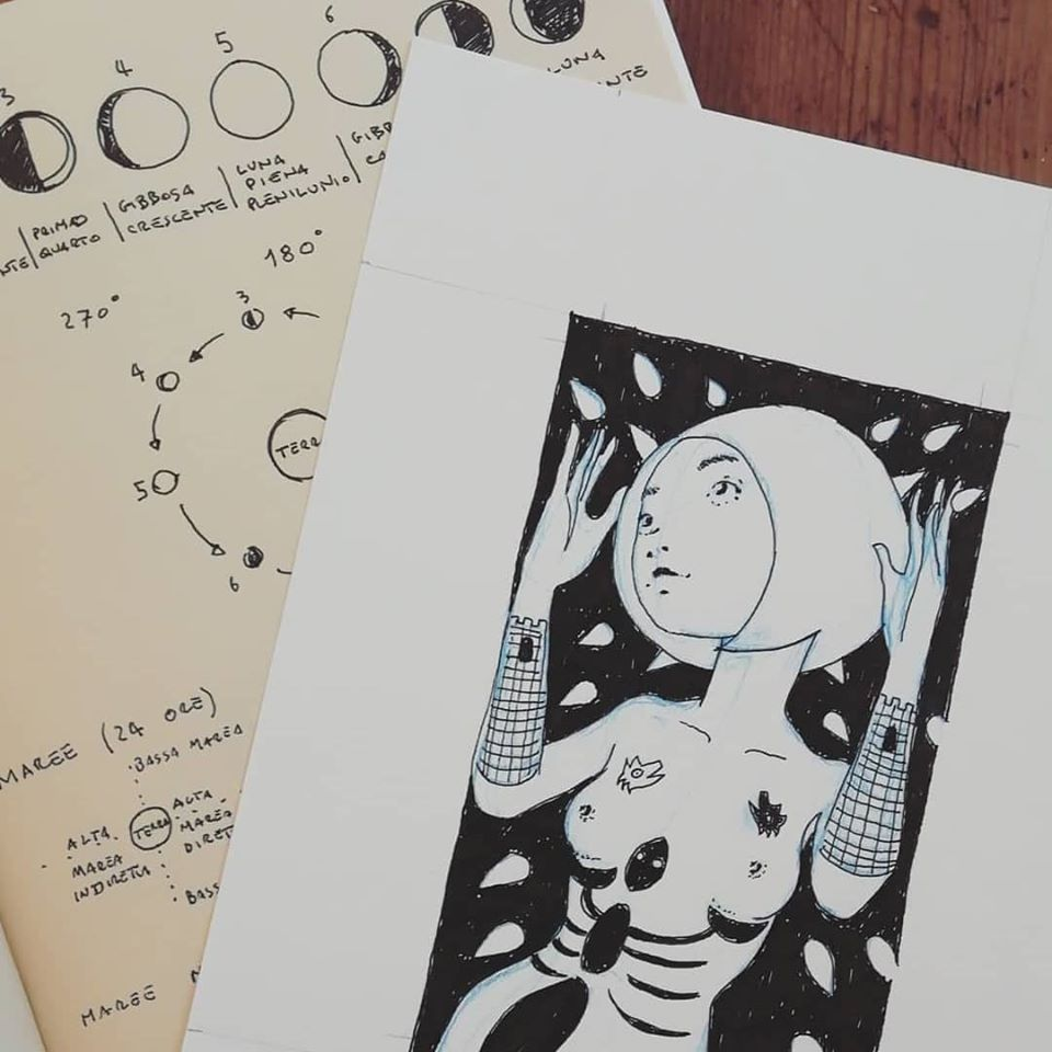 La Luna - Tarocchi d'artista di Diego Gabriele
