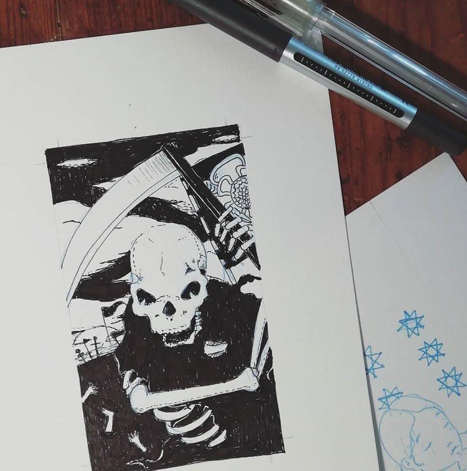 La Morte - Tarocchi d'artista di Diego Gabriele