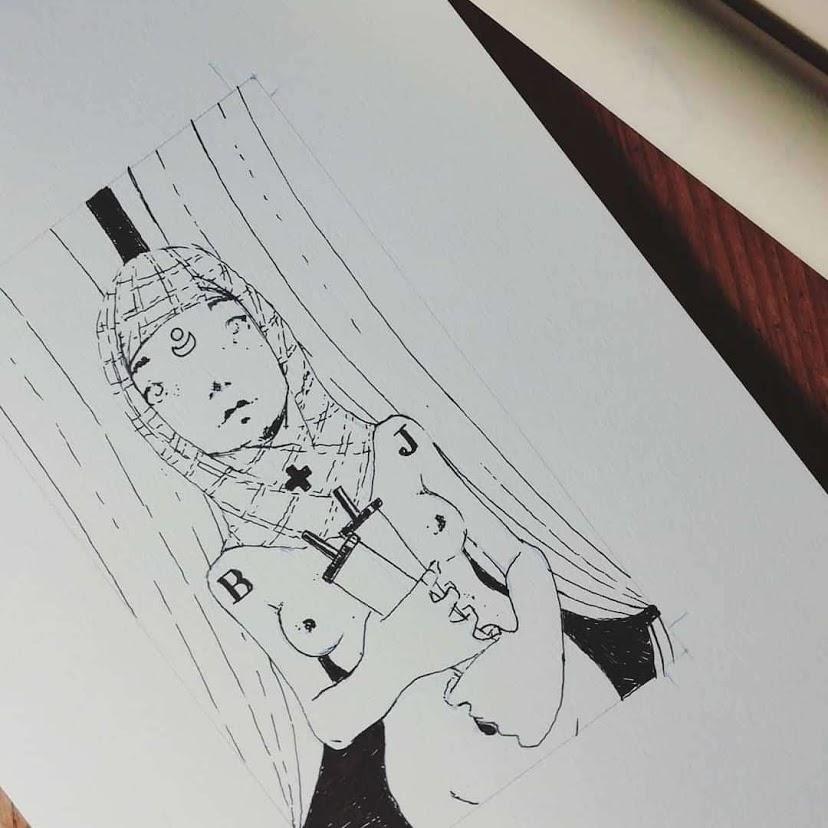 La Papessa - Tarocchi d'artista di Diego Gabriele