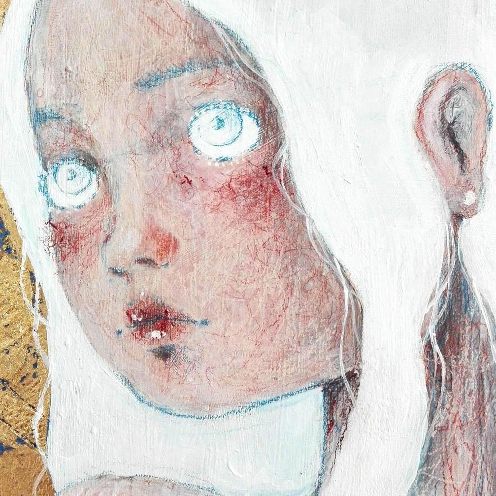 2018 La Sposa Bambina quadro ad acrilico di pittura contemporanea Diego Gabriele