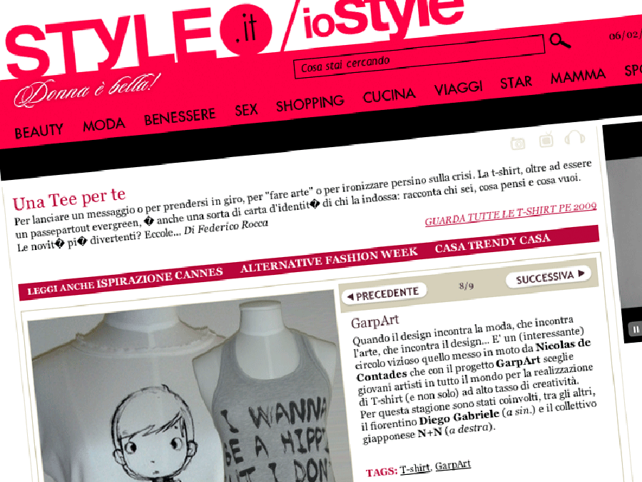 ioStyle t-shirt Diego Gabriele