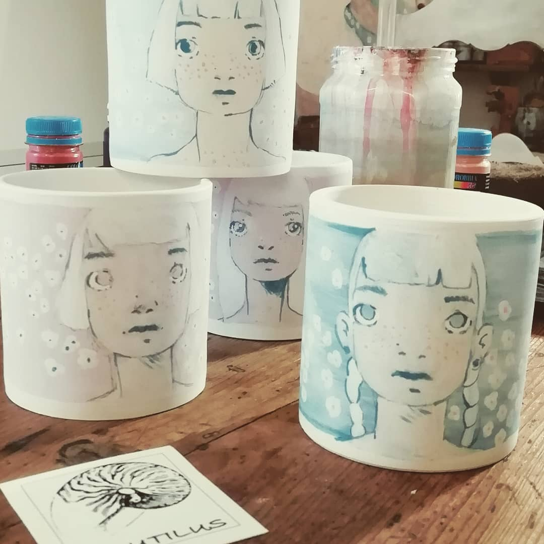 Tazze dipinte a mano - Diego Gabriele con Studio Nautilus