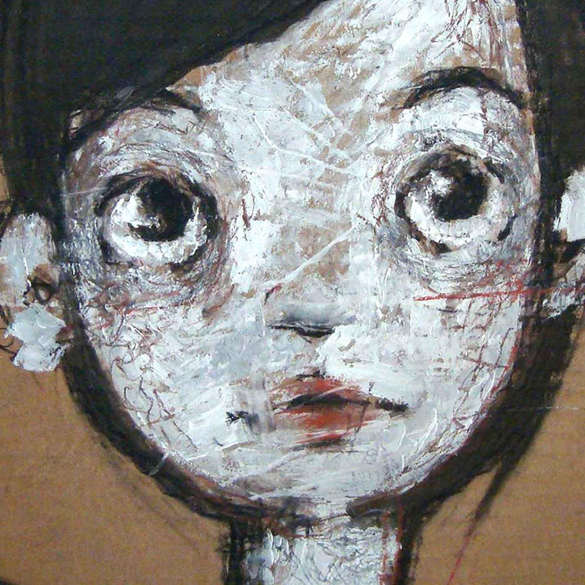 2012 RItratto della serie Ma sono nude quadro pittura contemporanea di Diego Gabriele