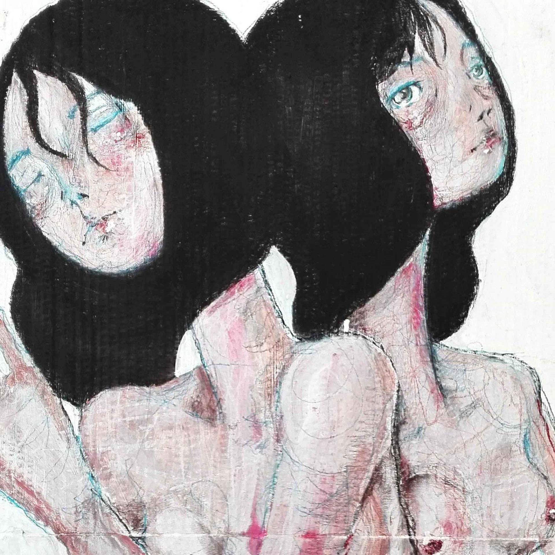 2015 Burnout Due Pittura contemporanea di Diego Gabriele
