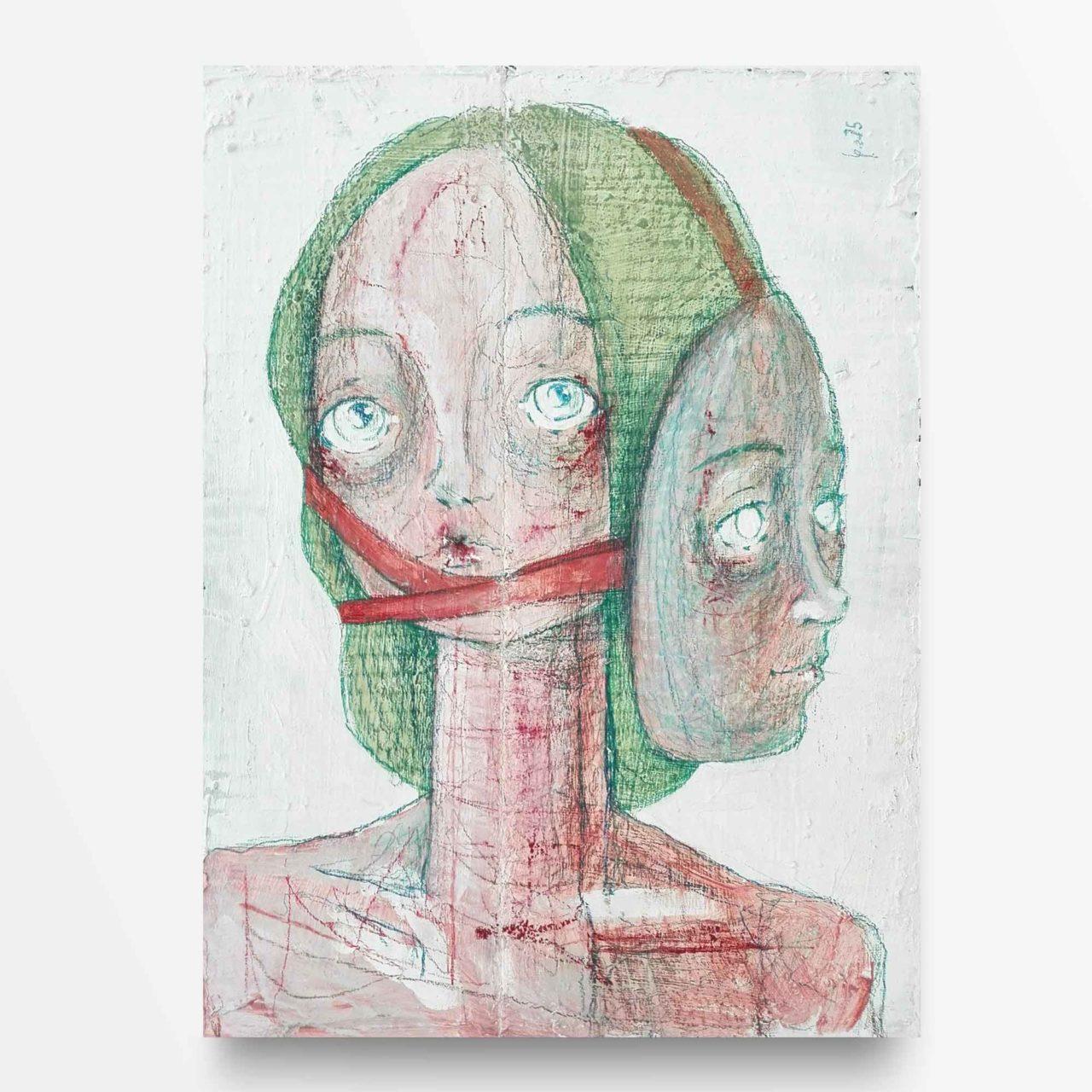 2015 Burnout La maschera Pittura contemporanea