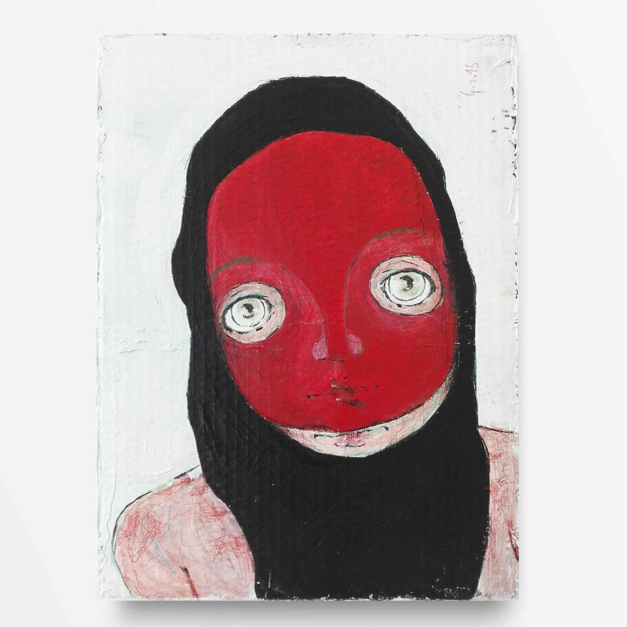 2015 Burnout Maschera Rossa Pittura Contemporanea Diego Gabriele