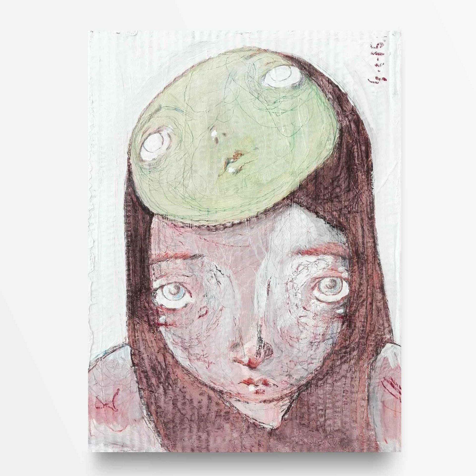 2015 Burnout Maschera Verde Pittura contemporanea di Diego Gabriele