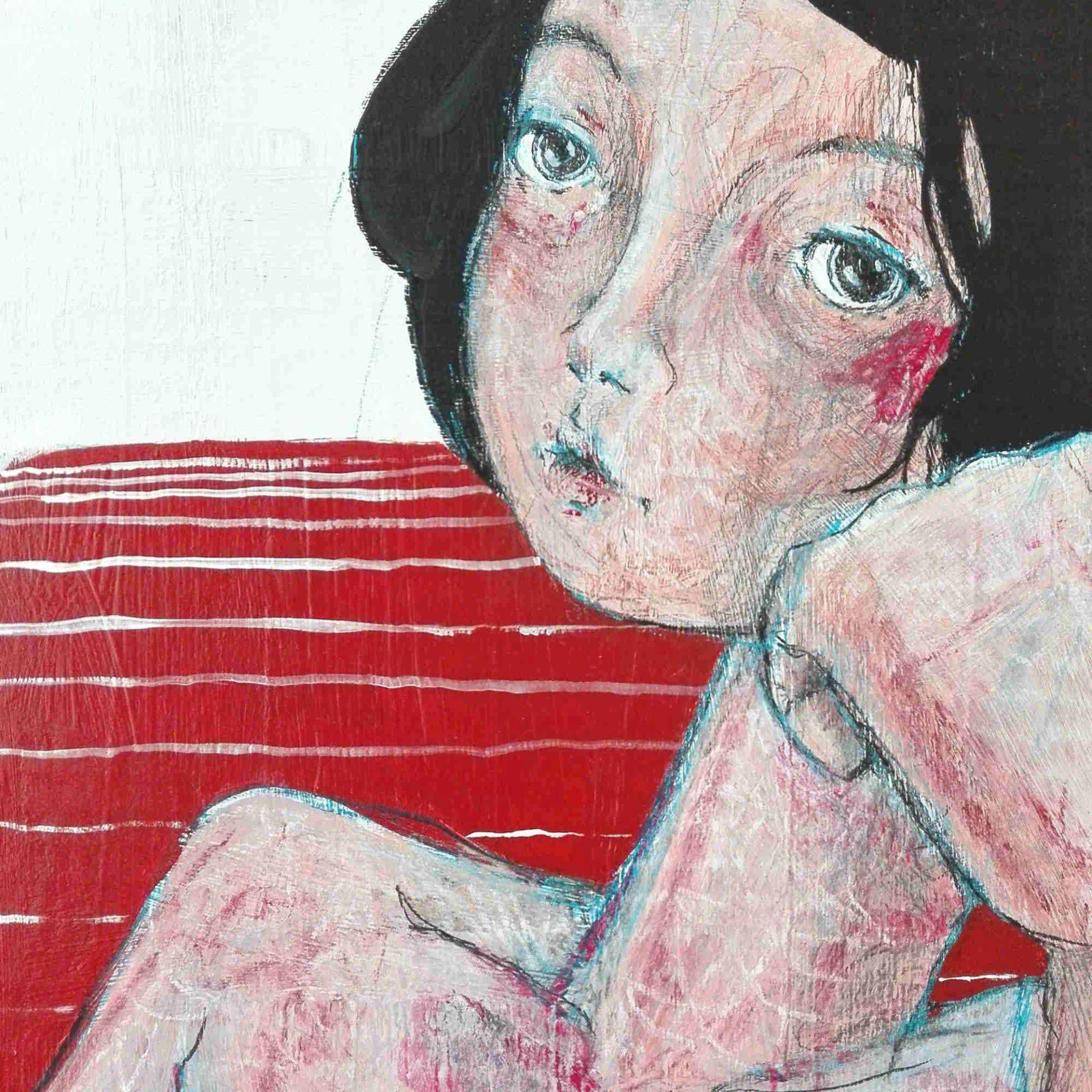 2015 Burnout Modella Pittura contemporanea Diego Gabriele