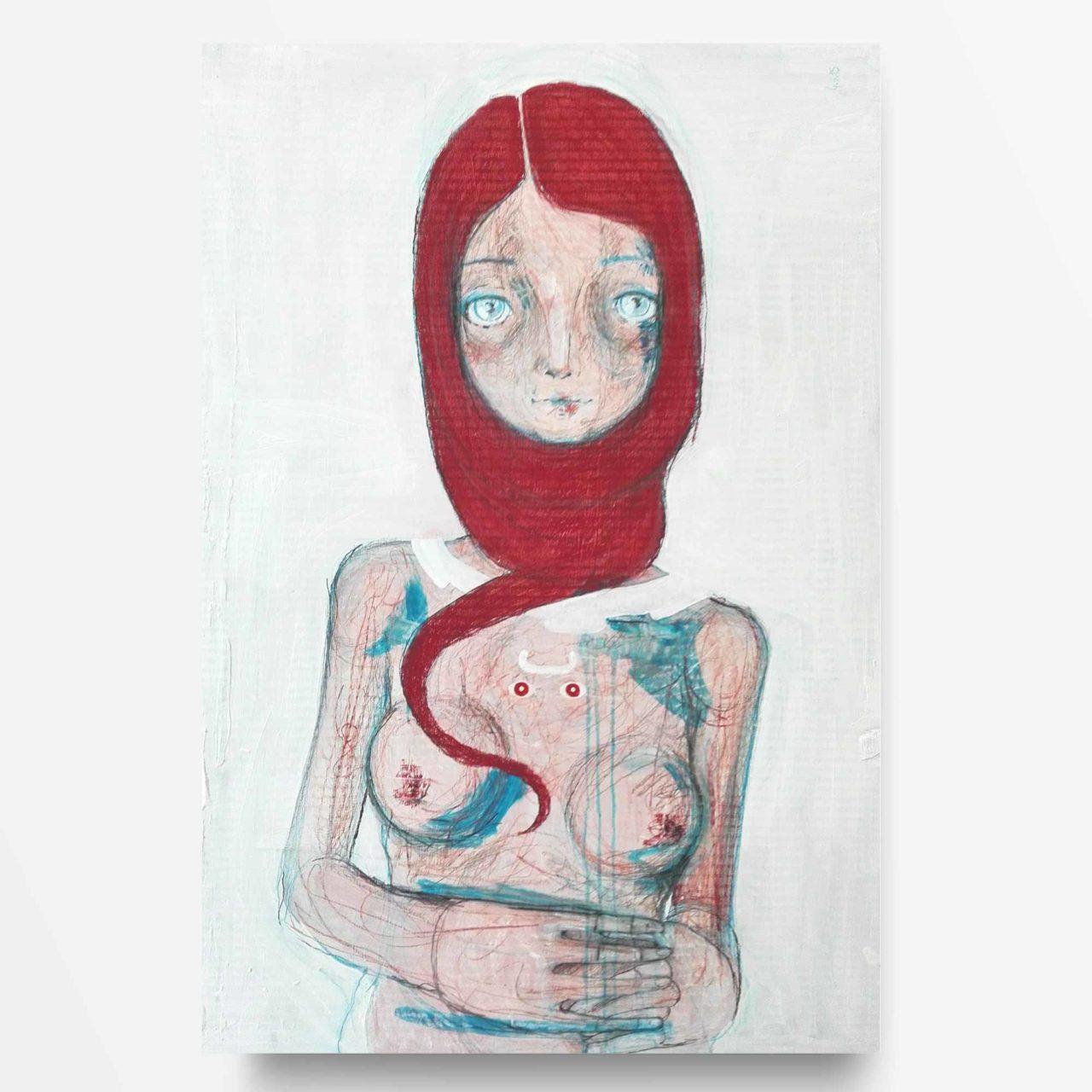 2015 Burnout Prostituta Sacra Pittura contemporanea di Diego Gabriele