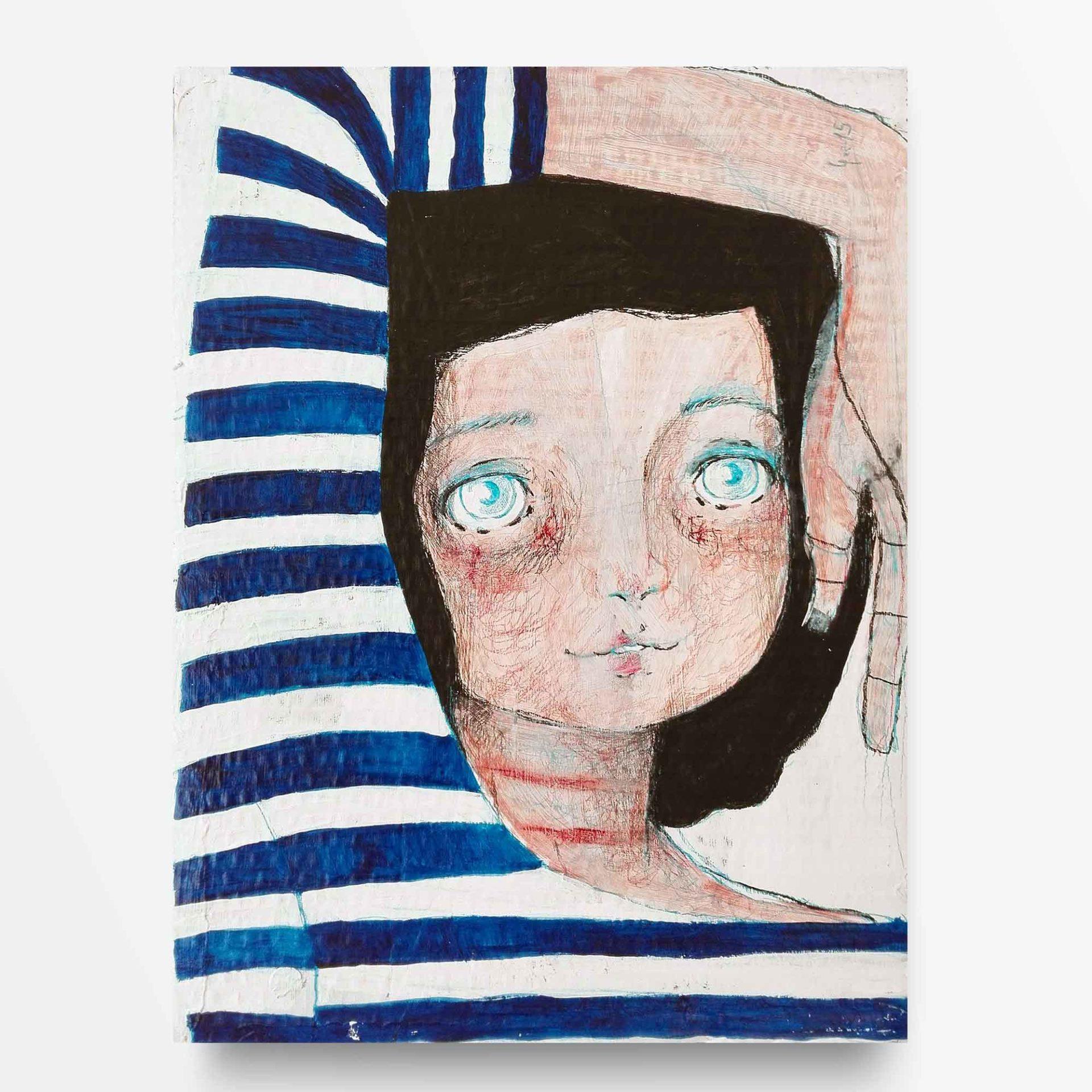 2015 Burnout Ragazza a Righe Pittura Contemporenea Diego Gabriele