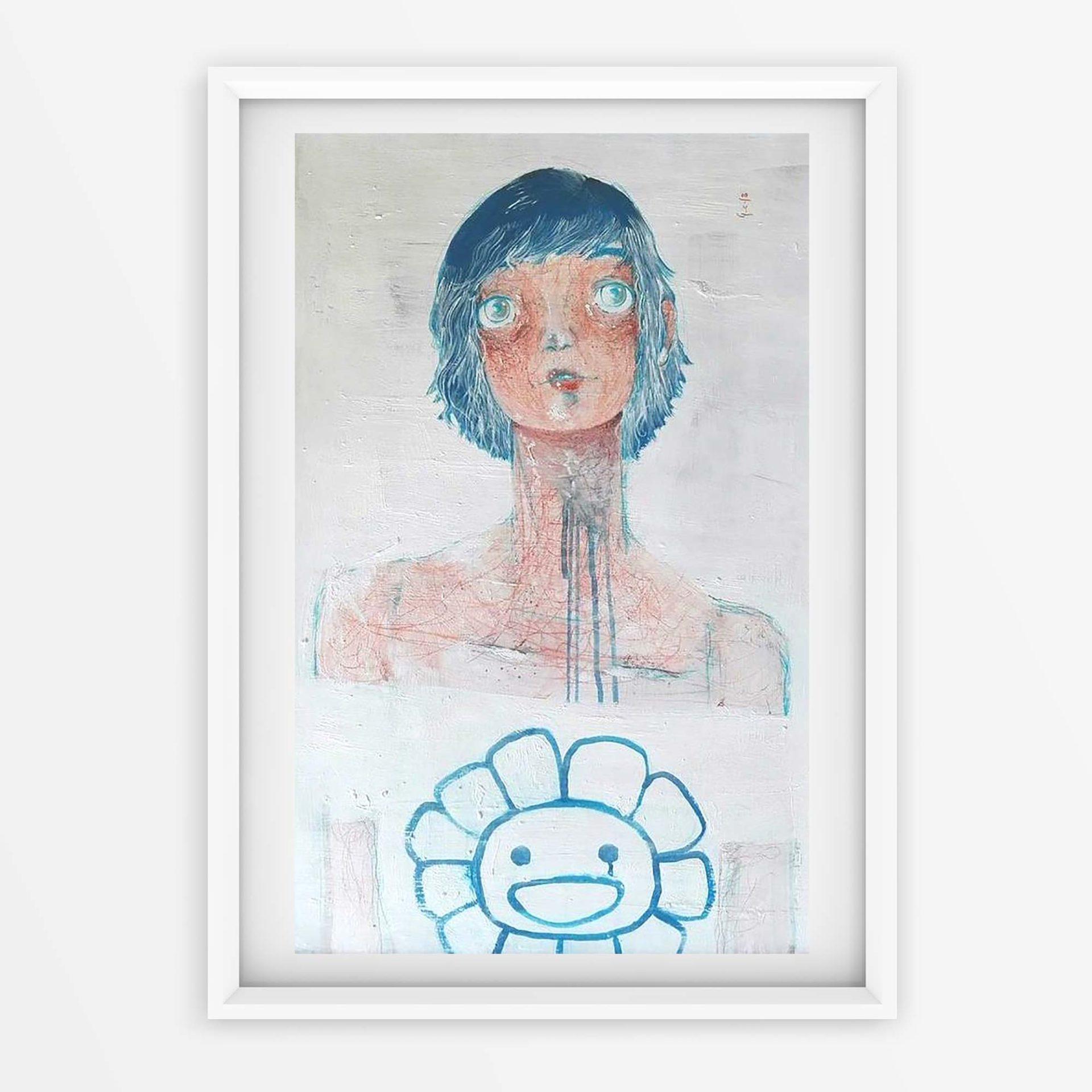 2018 Capelli Blu Pittura contemporanea Diego Gabriele