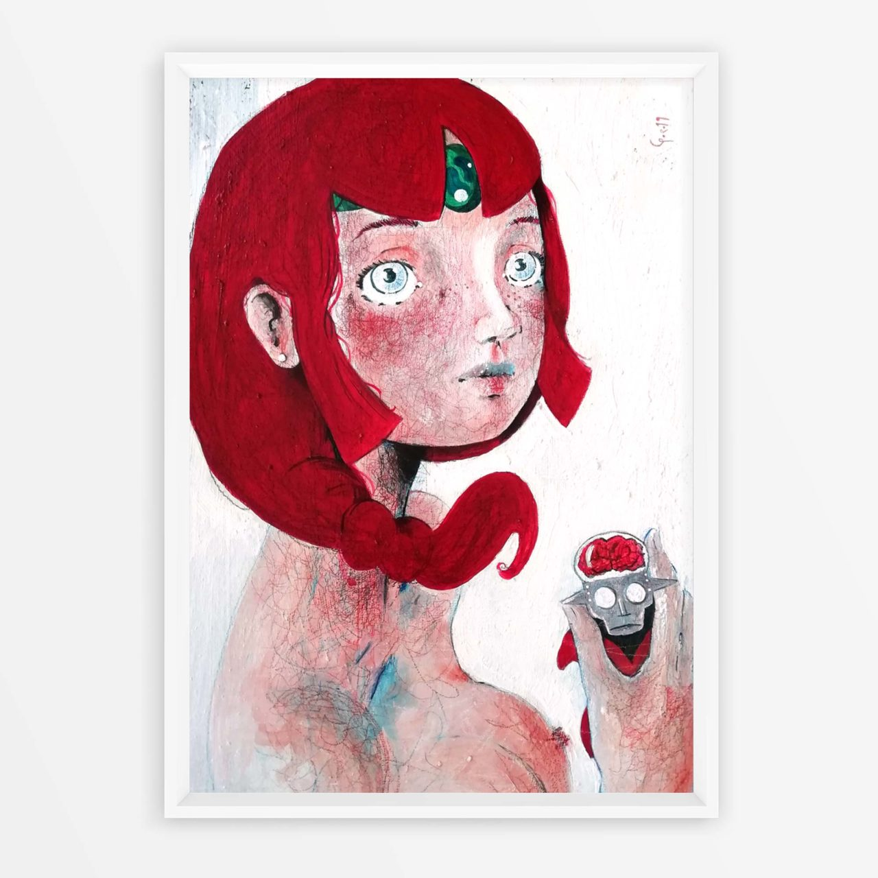 Cosplayer allo specchio Koros Daitarn3 Pittura contemporanea