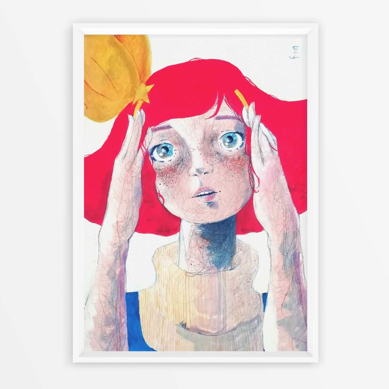 Cosplayer allo specchio Mincky Momo Gigì Pittura contemporanea