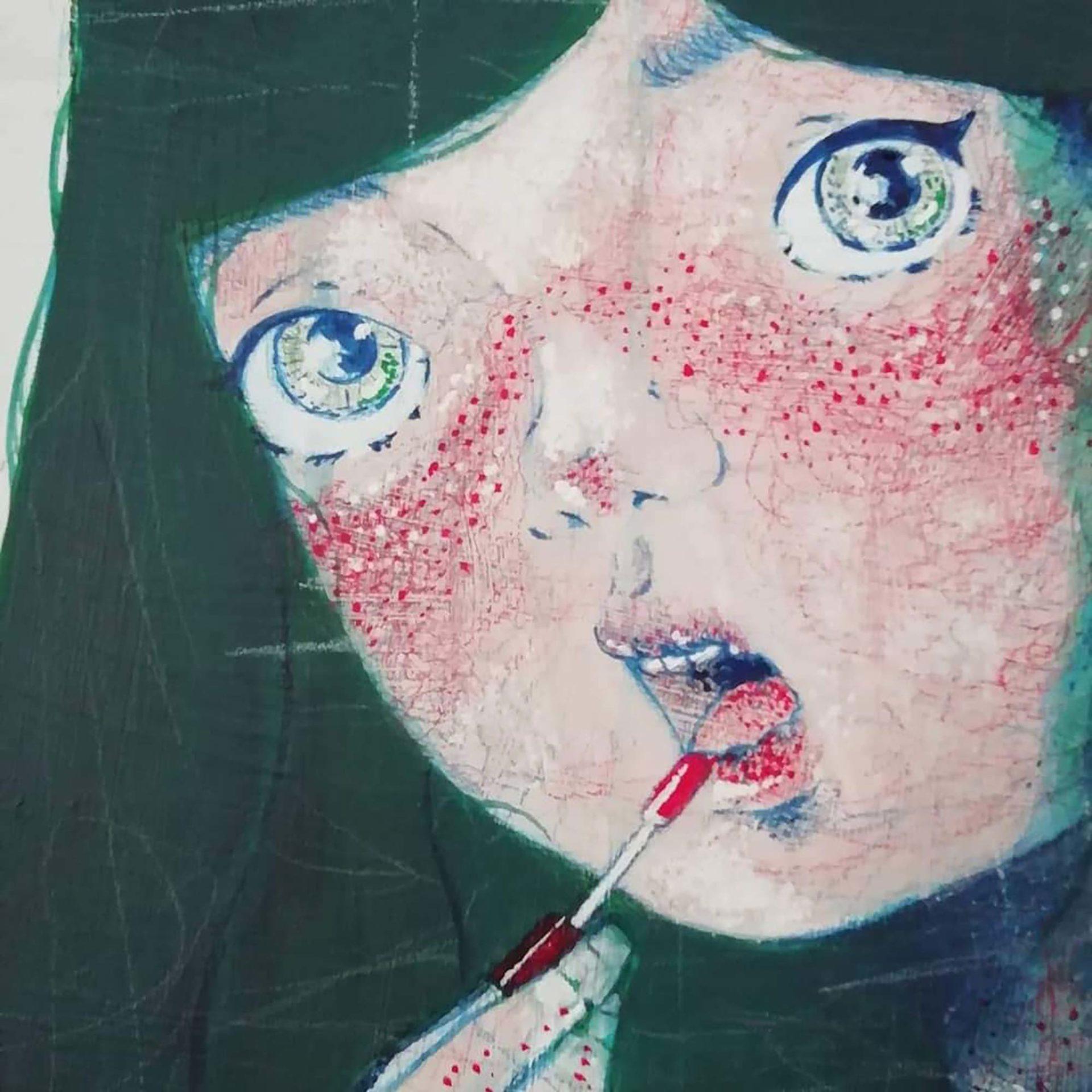 Cosplayer allo specchio Lamù Pittura contemporanea