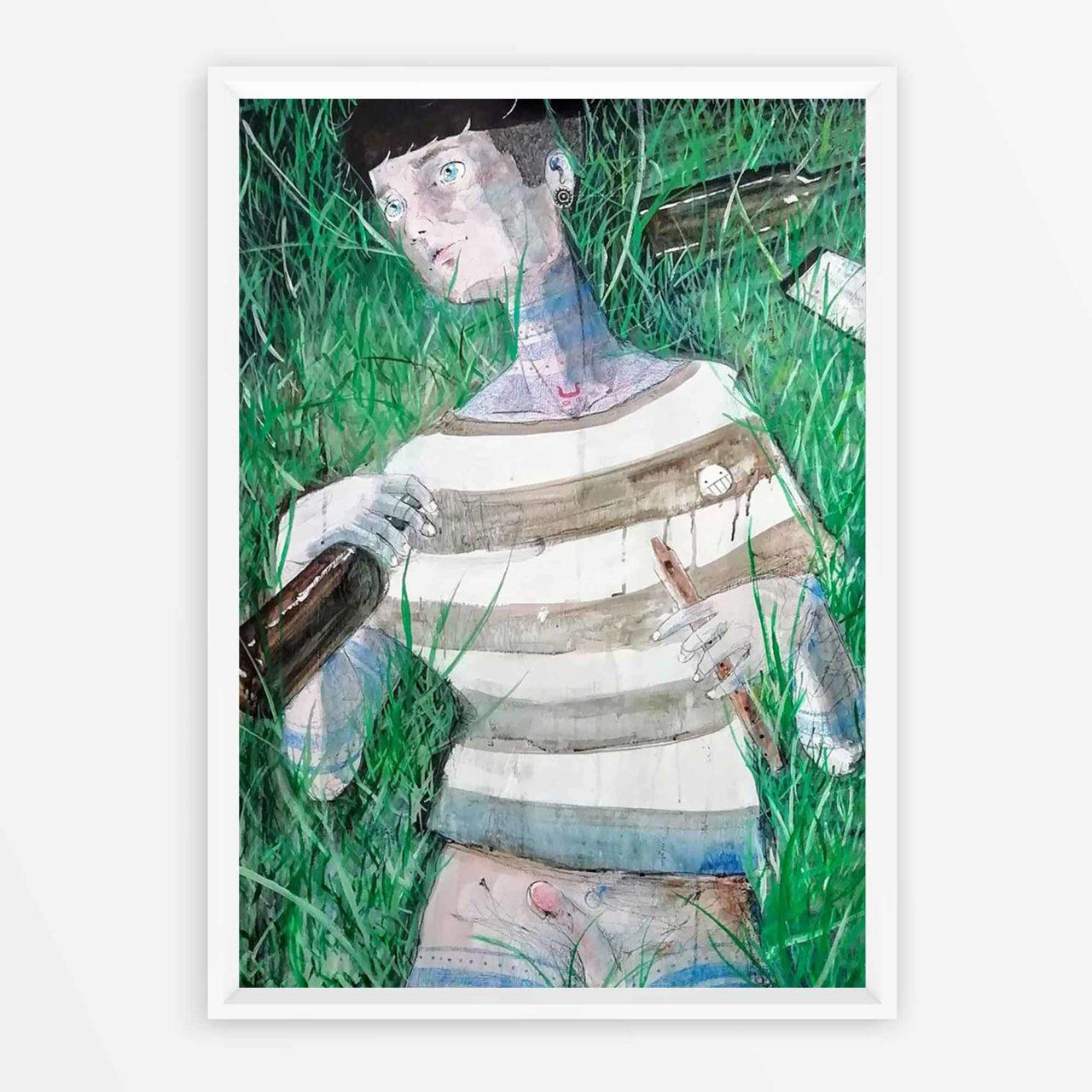 2019 Fauno dei parchi notturni Pittura contemporanea Quadro ad acrilico Diego Gabriele