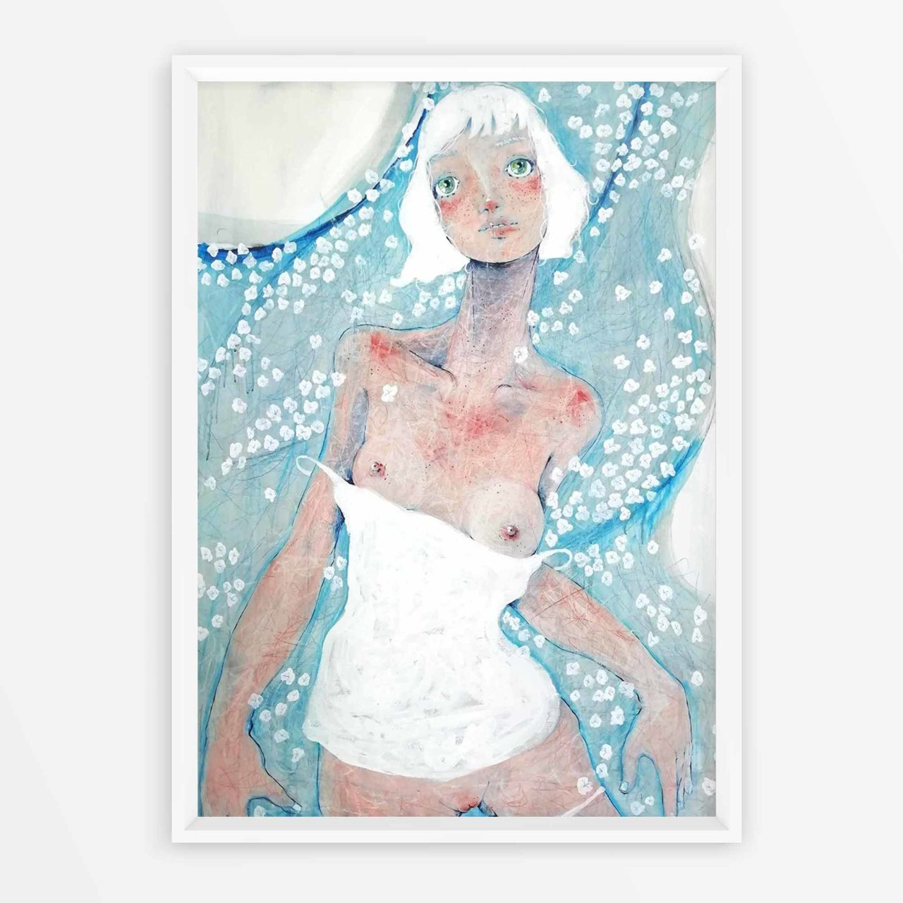 2019 Ninfa dei fiumi pittura contemporanea di Diego Gabriele