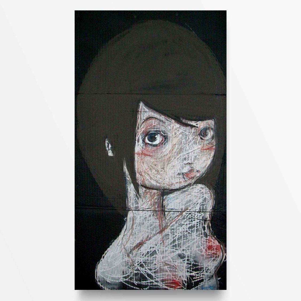 2012 Fondi Neri Mentre guardi, quadro ad acrilico di Diego Gabriele