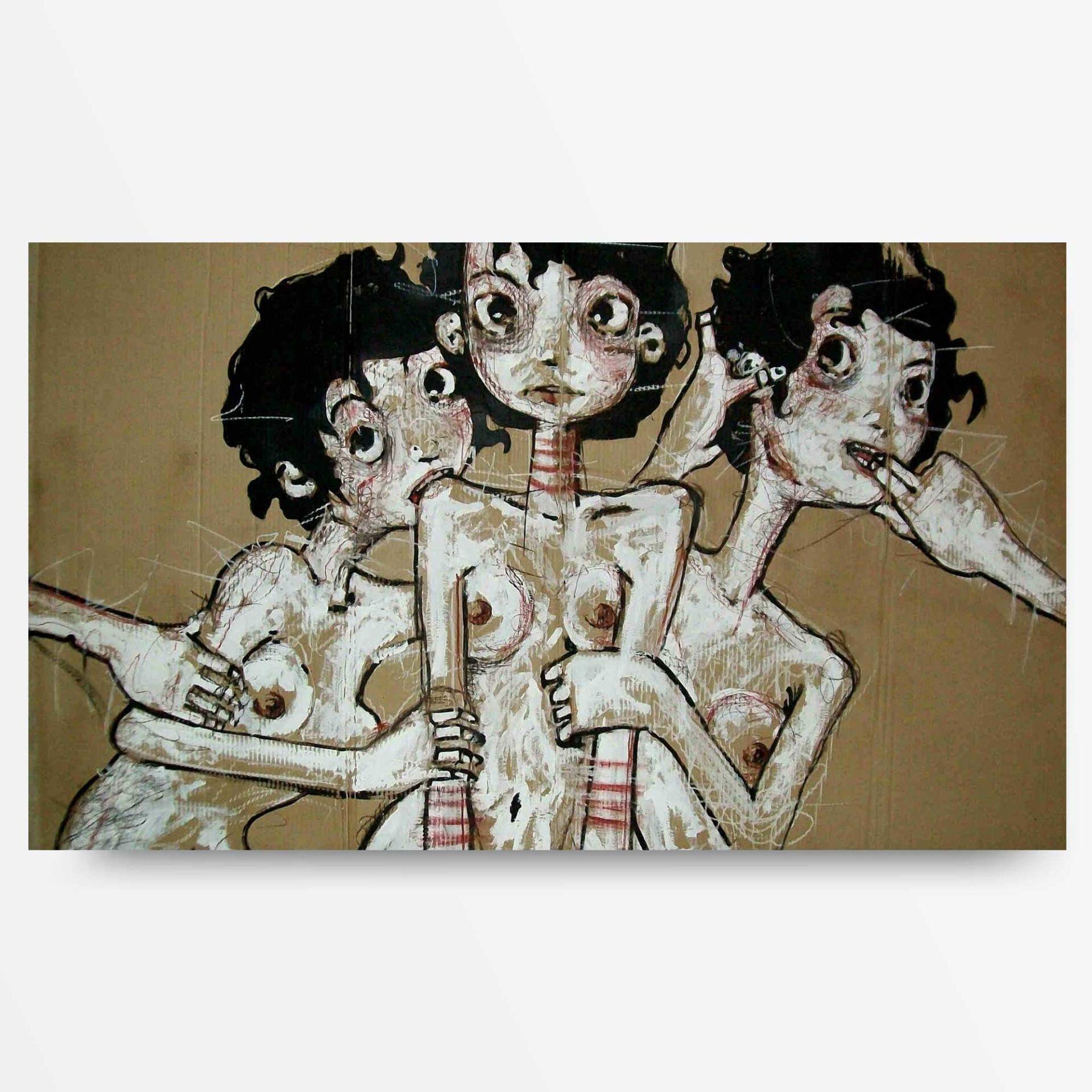 2010 Incredulità Tre, quadro ad acrilico di Diego Gabriele