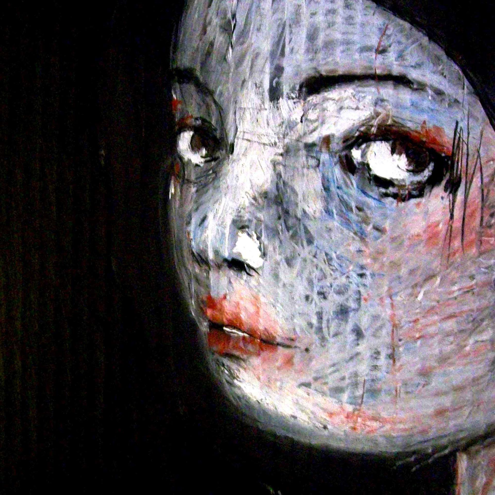2013 Ragazza con l'orecchino di plastica, quadro ad acrilico di Diego Gabriele