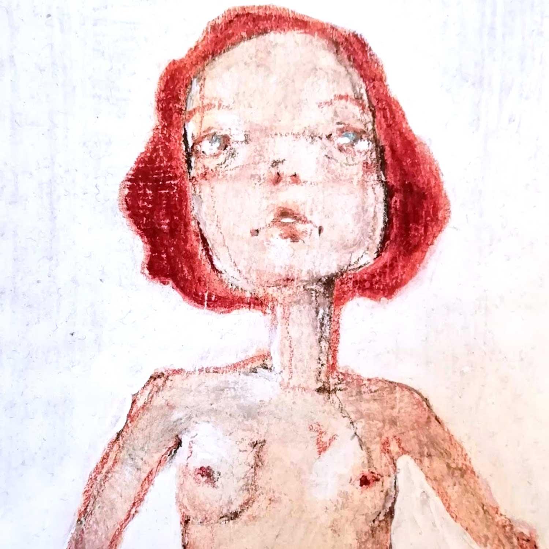 2014 Nudino quadro ad acrilico di Diego Gabriele