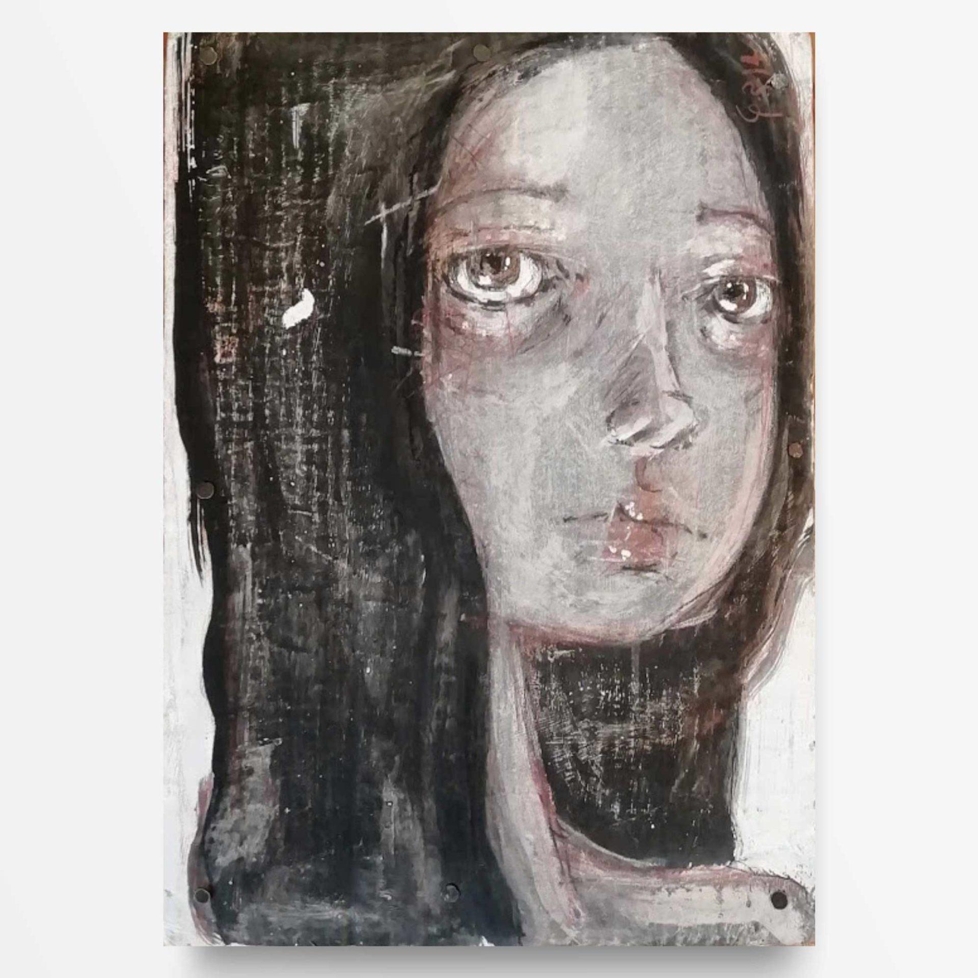 2014 Ritratto di ragazza quadro ad acrilico di Diego Gabriele