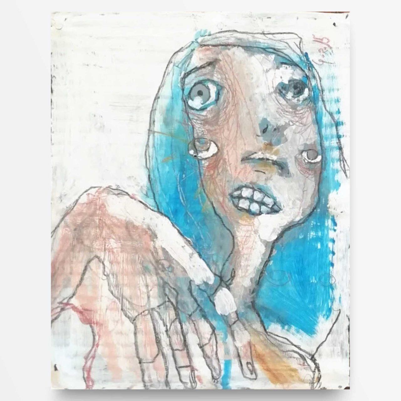 2015 Sclero quadro ad acrilico di Diego Gabriele