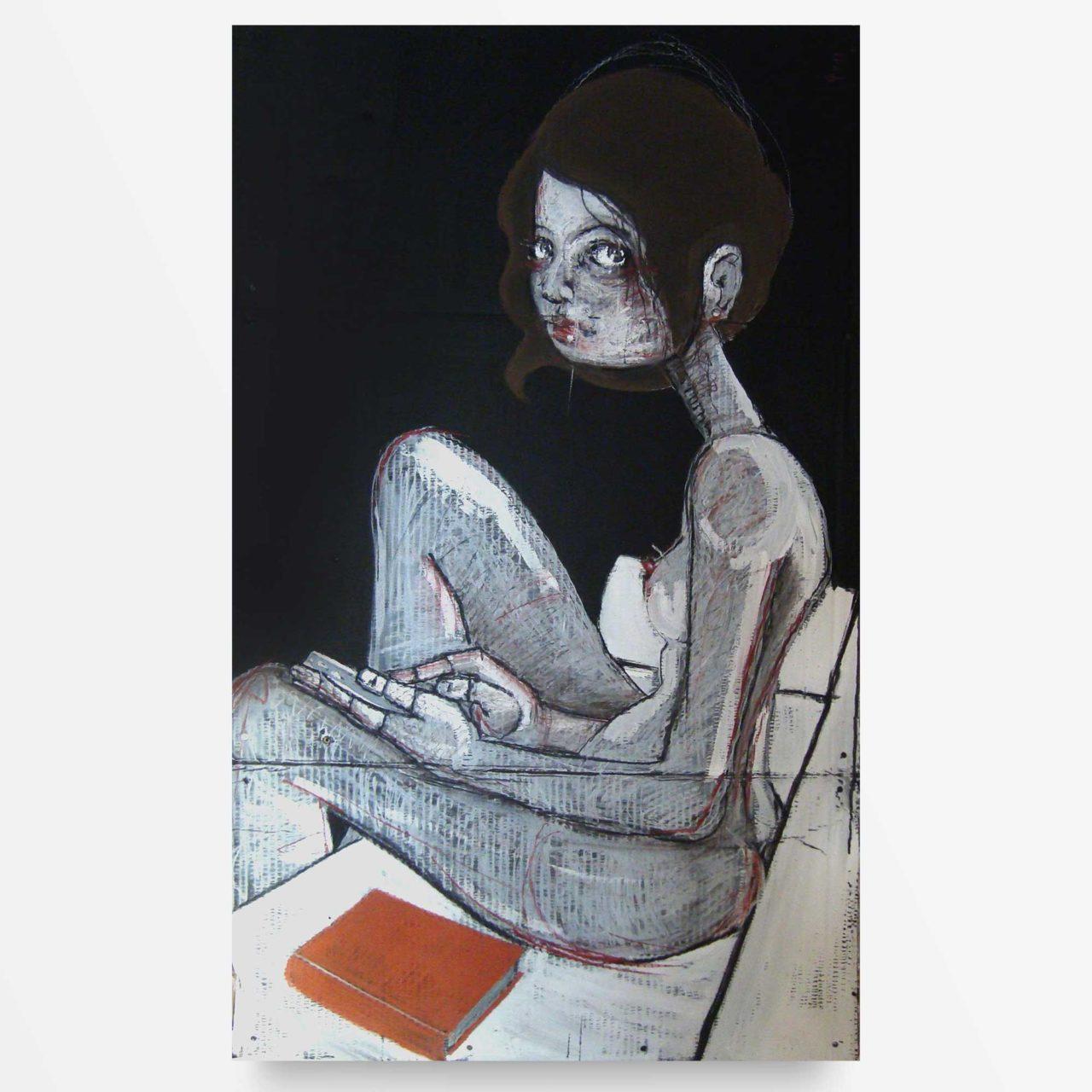 pittura contemporanea La ragazza sul Divano di Diego Gabriele