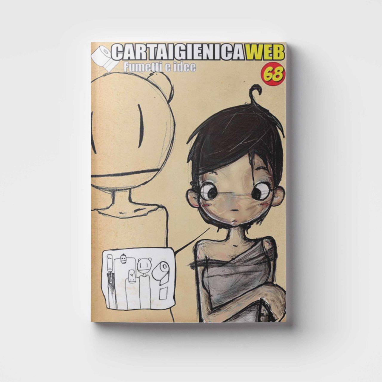 illustrazione editoriale per la copertina di Cartaigienica Web