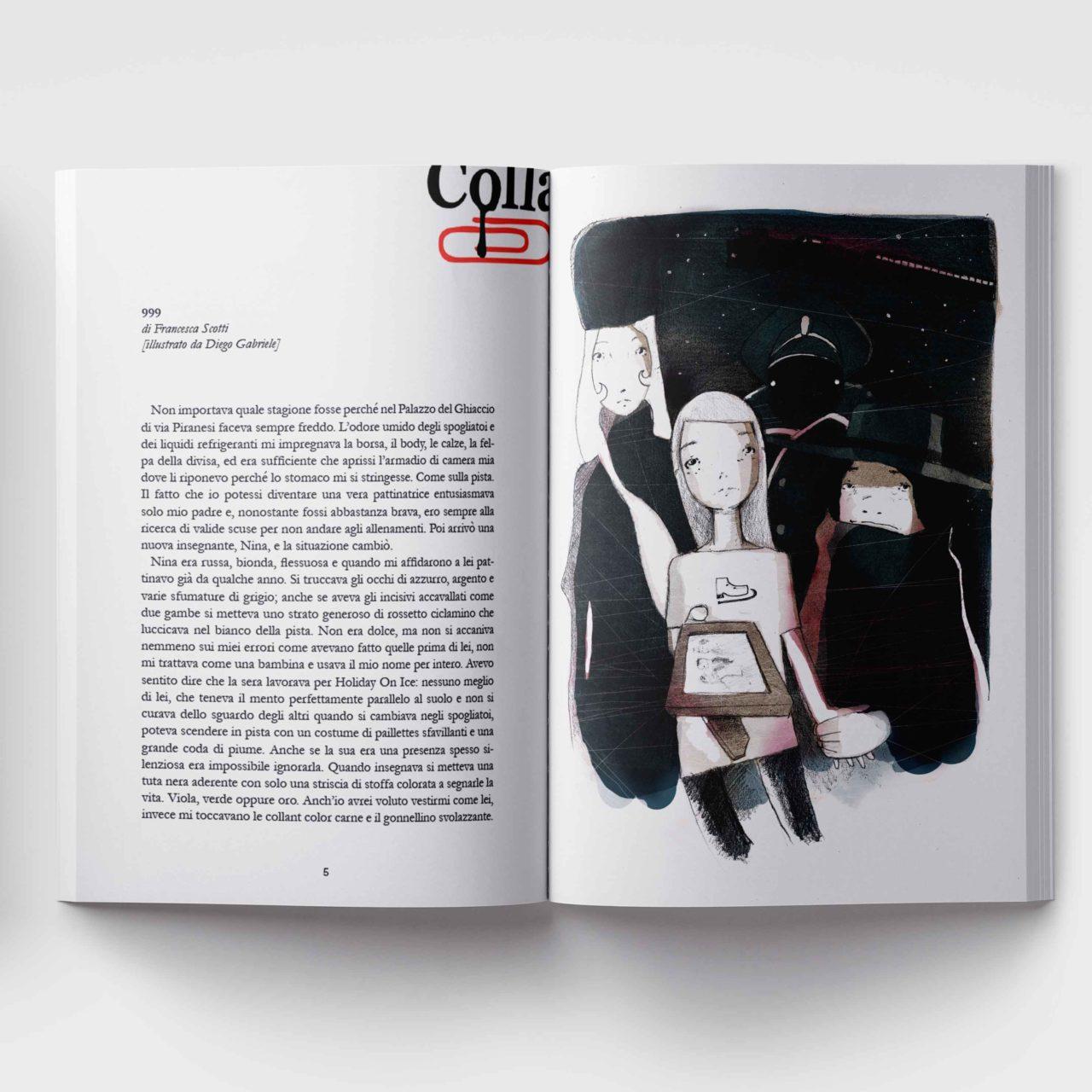 Illustrazione tributo a Galaxy 999 per Colla Magazine di Diego Gabriele