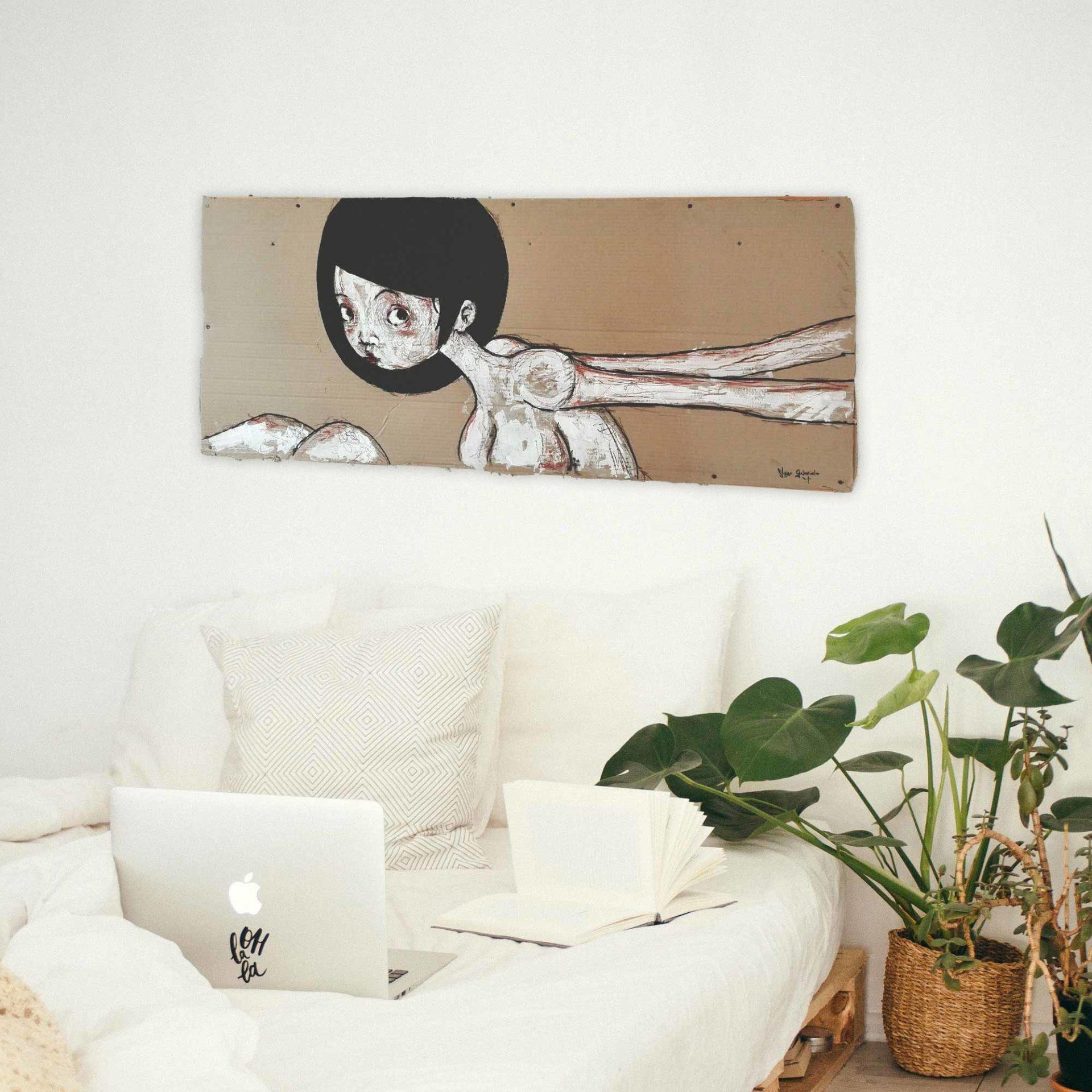 lowbrow art Ma sono nude Legata di Diego Gabriele