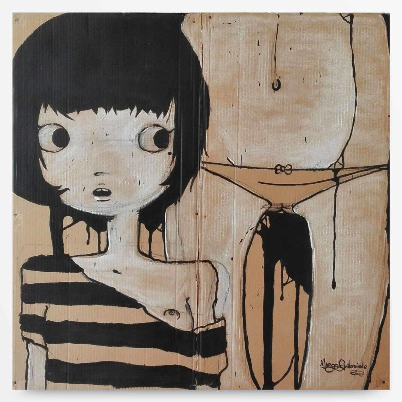 lowbrow art Conosciamoci Quadro ad acrilico di Diego Gabriele