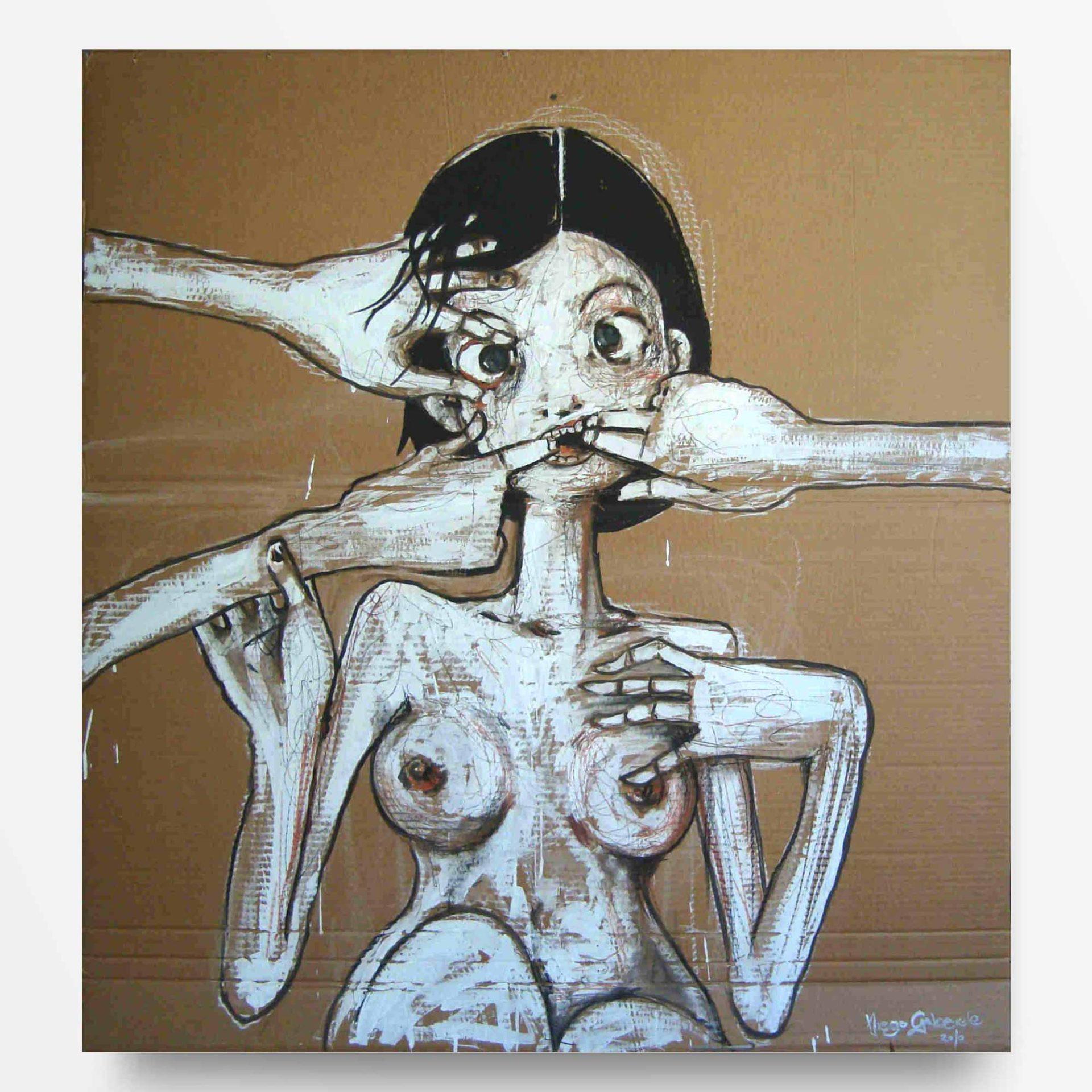 lowbrow art Incredulità quadro ad acrilico Diego Gabriele