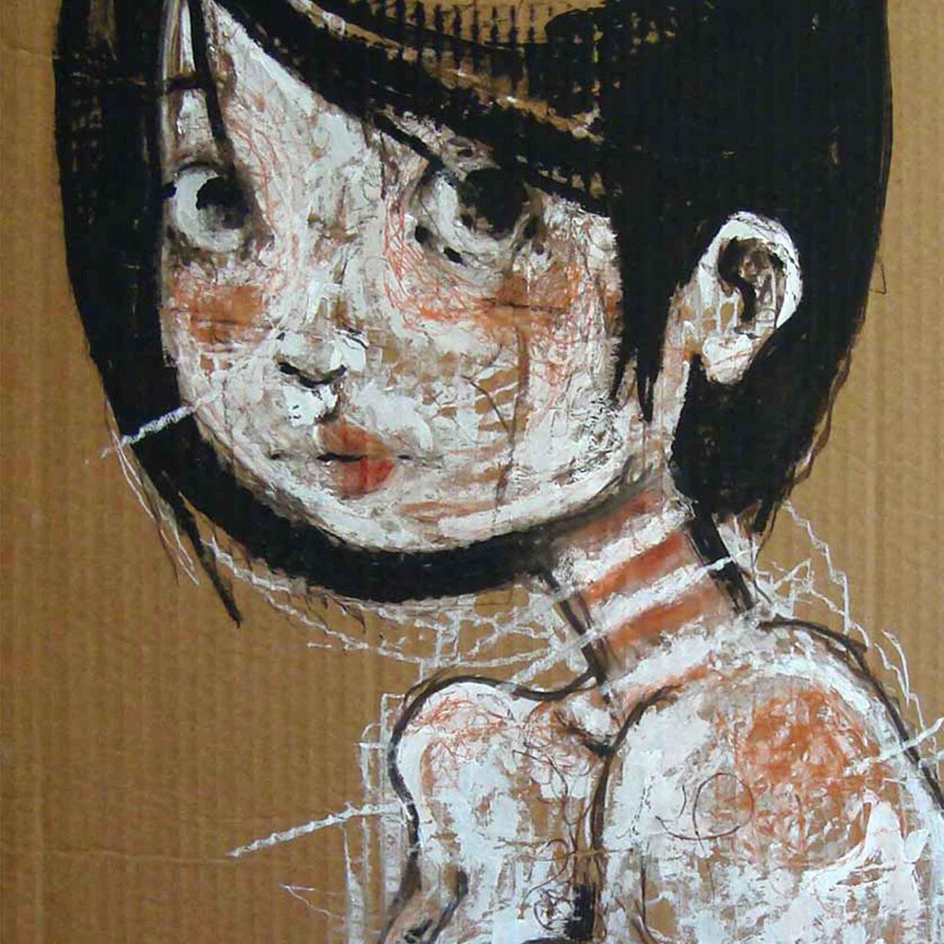 Lowbrow Art Ma sono nude Laura quadro ad acrilico Diego Gabriele