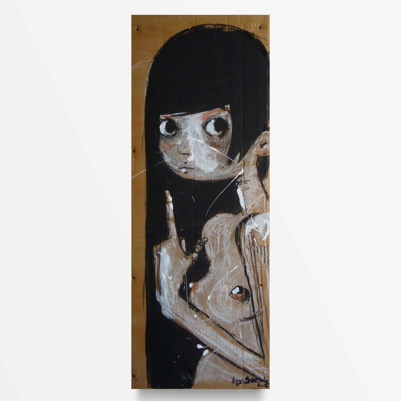 lowbrow art Iperuranio il mondo delle idee quadro ad acrilico Diego Gabriele