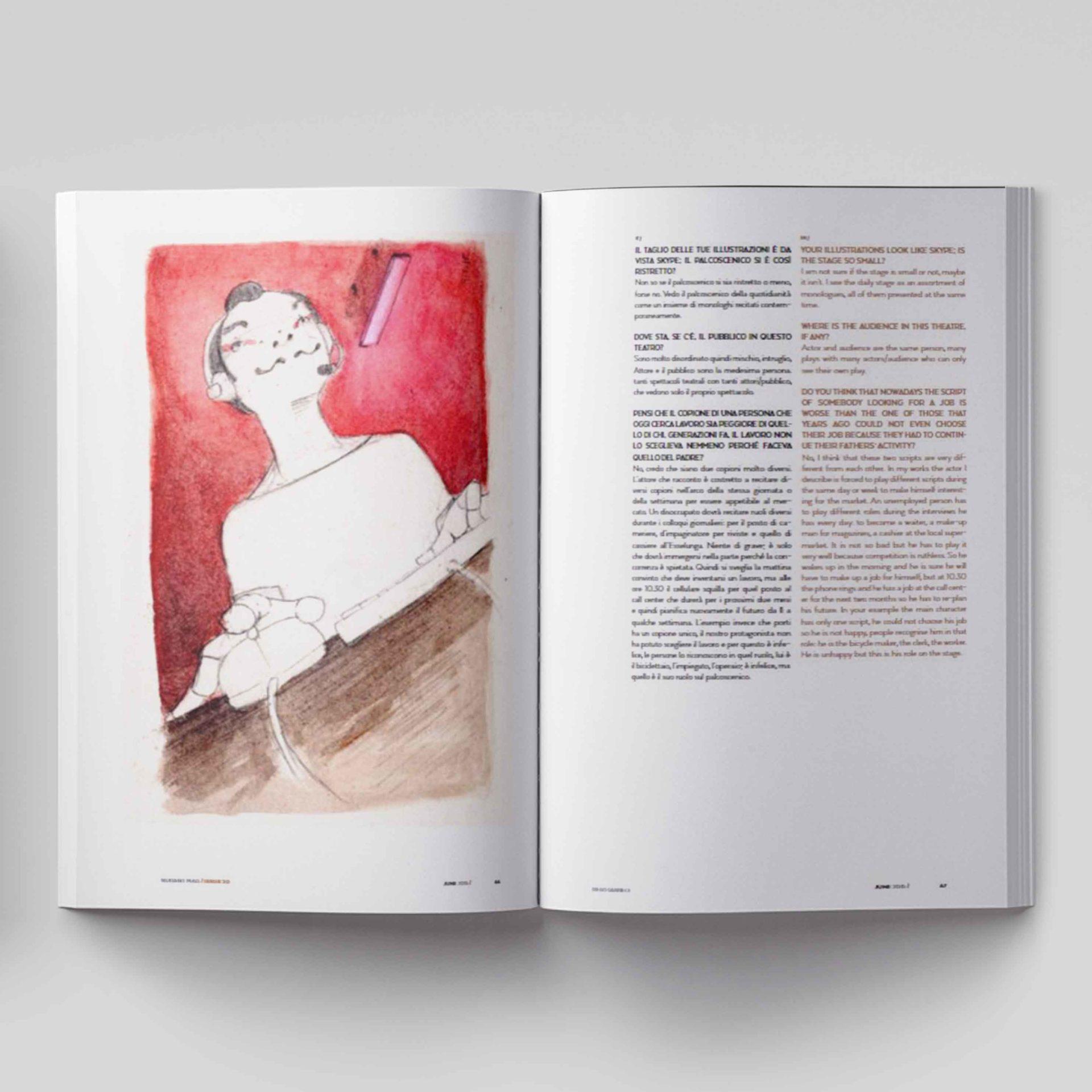 Illustrazioni editoriali per Nurant di Diego Gabriele