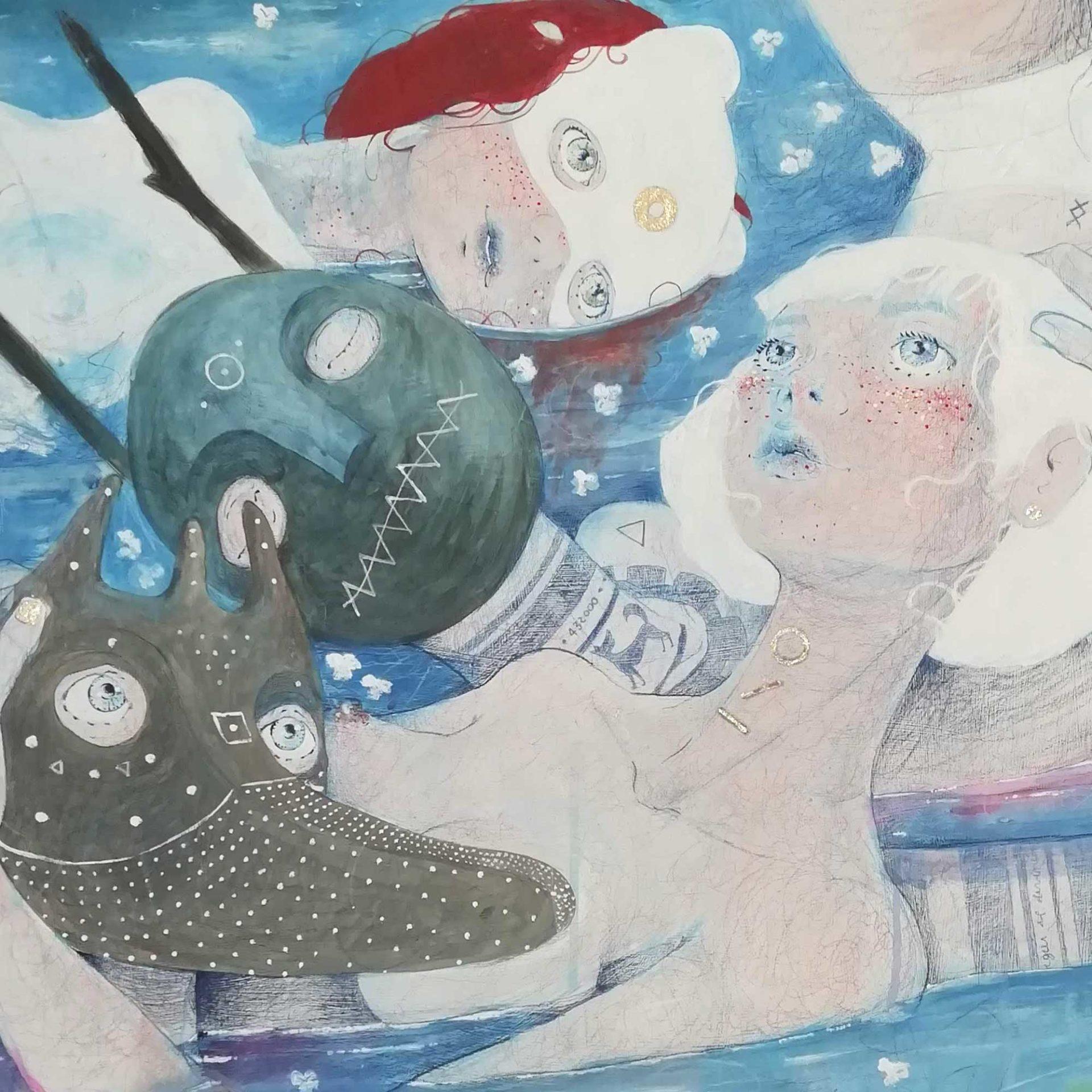 pittura contemporanea figurativa Immaginazione quadro ad acrilico di Diego Gabriele