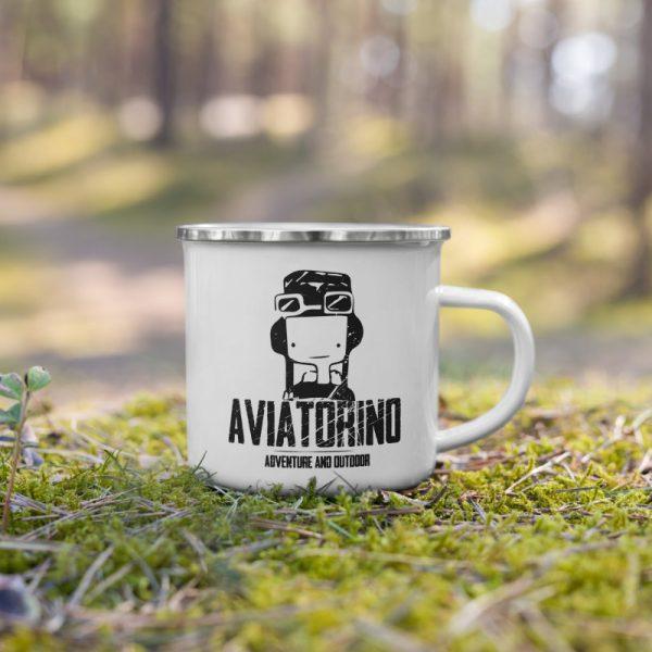 Tazza Smaltata da Campeggio Aviatorino Adventure and Outdoor