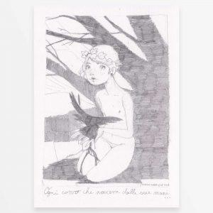 disegno originale - La Ragazza dei Corvi - Diego Gabriele