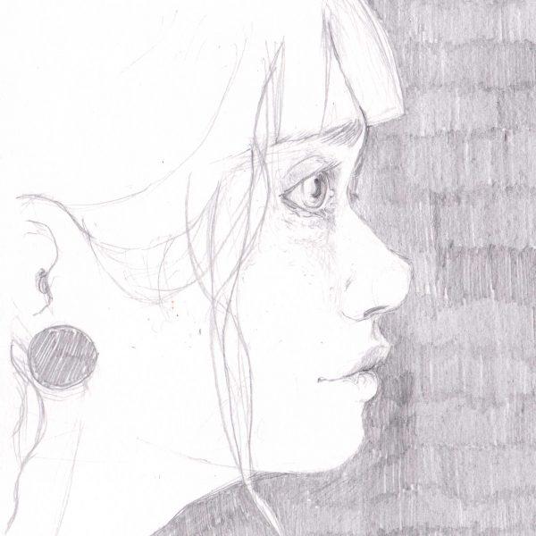 disegno orinale - Ragazza di profilo - Diego Gabriele