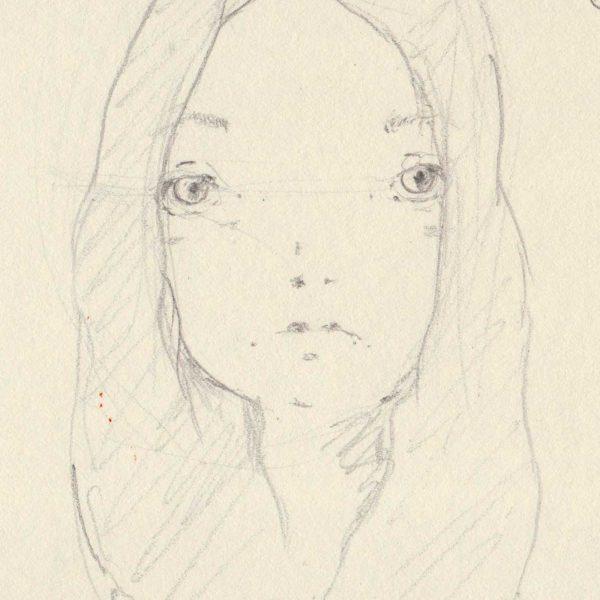 disegno originale - Schizzo dai capelli lunghi - Diego Gabriele