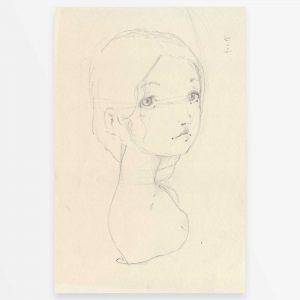 disegno originale - Schizzo di ragazza dai capelli raccolti- Diego Gabriele