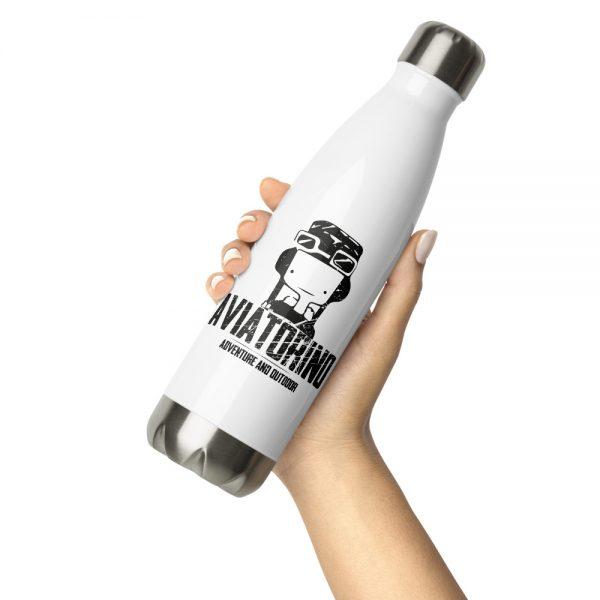 stainless steel water bottle white 17oz front 2 611b6797cbb36 Borraccia in acciaio inossidabile