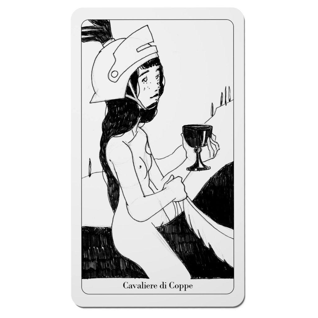 Tarocchi del Disordine - Cavaliere di Coppe -Arcani Minori - Diego Gabriele